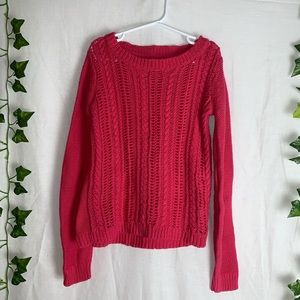 GAP KIDS Pink Cable Knit Sweater